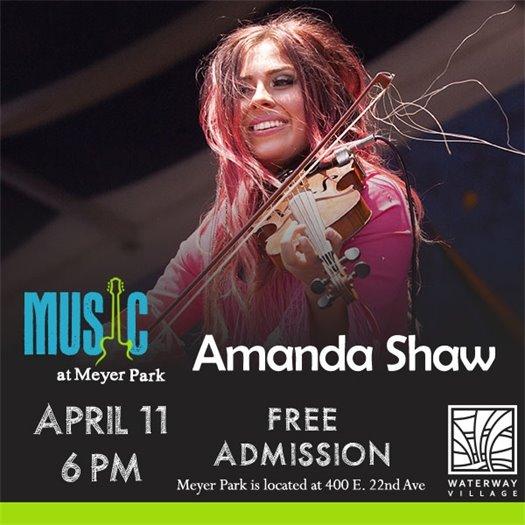 Amanda Shaw concert flyer