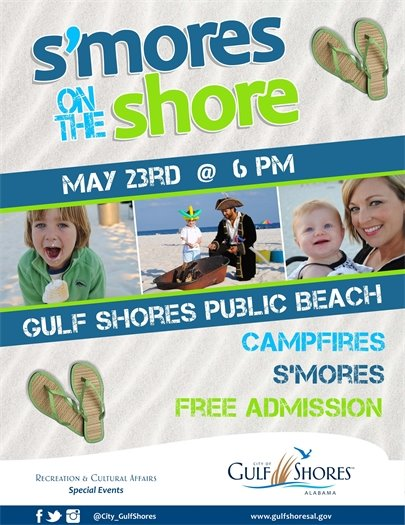 S'mores on the Shore informational flyer