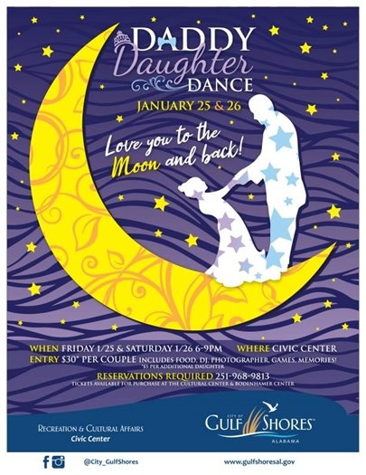 Daddy Daughter Dance TONIGHT and TOMORROW!