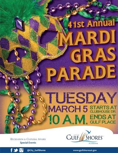 Mardi Gras Parade flyer