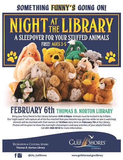 Night at the Library: Tuck your stuffed animal in for a sleepover TODAY!
