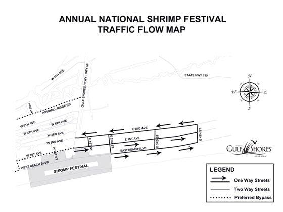 Shrimp Festival Traffic Flow