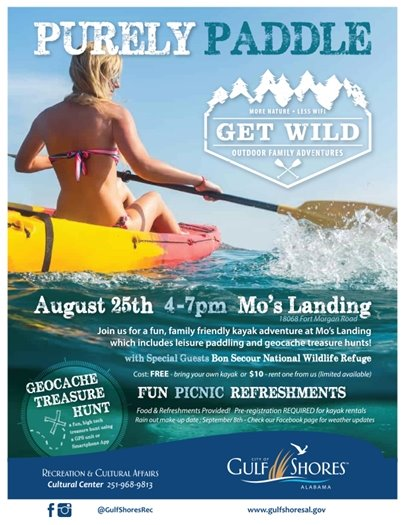 purely paddle event flyer