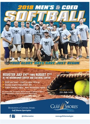 Men's and Coed Softball information flyer