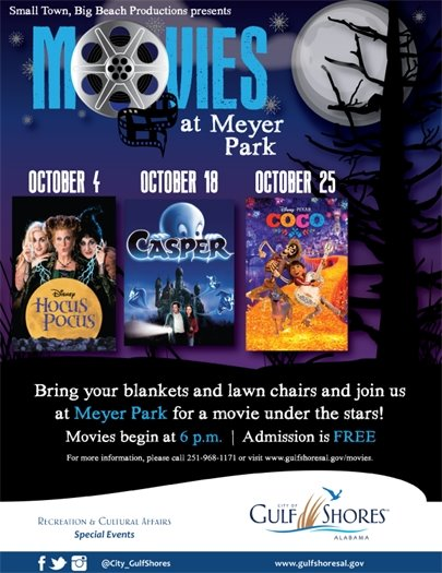 Movies at Meyer Park is TOMORROW!