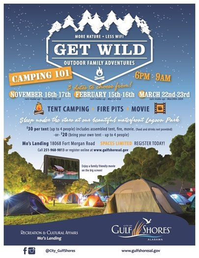 Gulf Shores Recreation Department to host Camping 101 on Nov. 16!