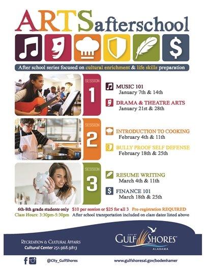 Arts After School Program begins January 7! Transportation included!