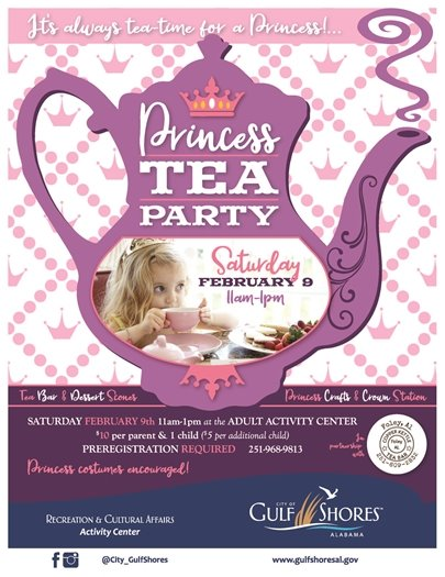 Join us for a Princess Tea Party on Saturday, February 9!