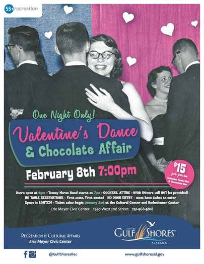Get your tickets to the Valentine's Dance this Friday, February 8!
