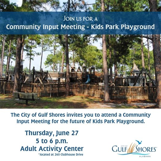City of Gulf Shores hosts Community Input Meeting - Kids Park Playground image