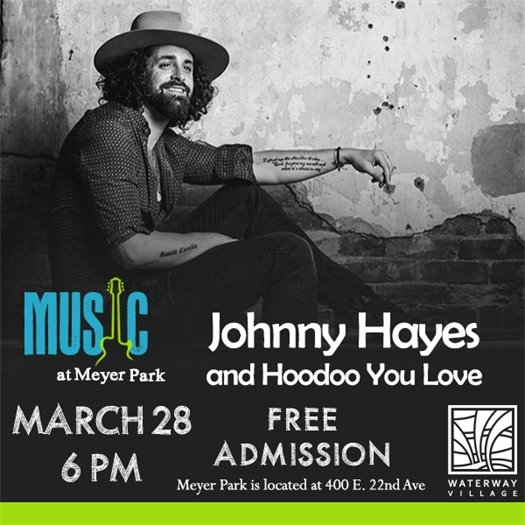FREE concert TONIGHT at Meyer Park - Johnny Hayes!