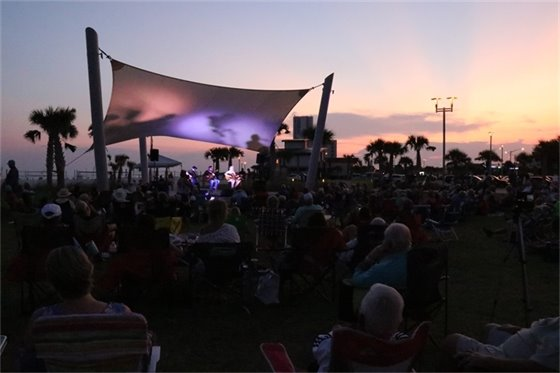 concert under the sunset