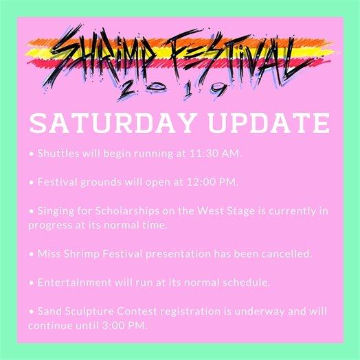 Saturday Hours Update