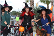 three witches on bikes