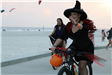 Witches riding a bicycle