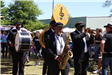 second line band performing