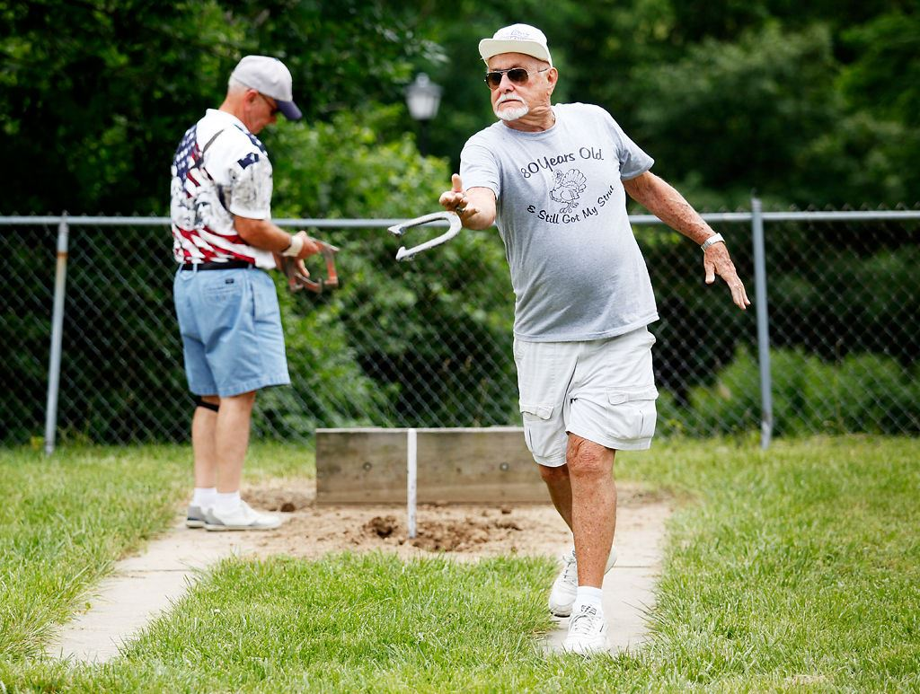 Senior Sports Challenge Horseshoes