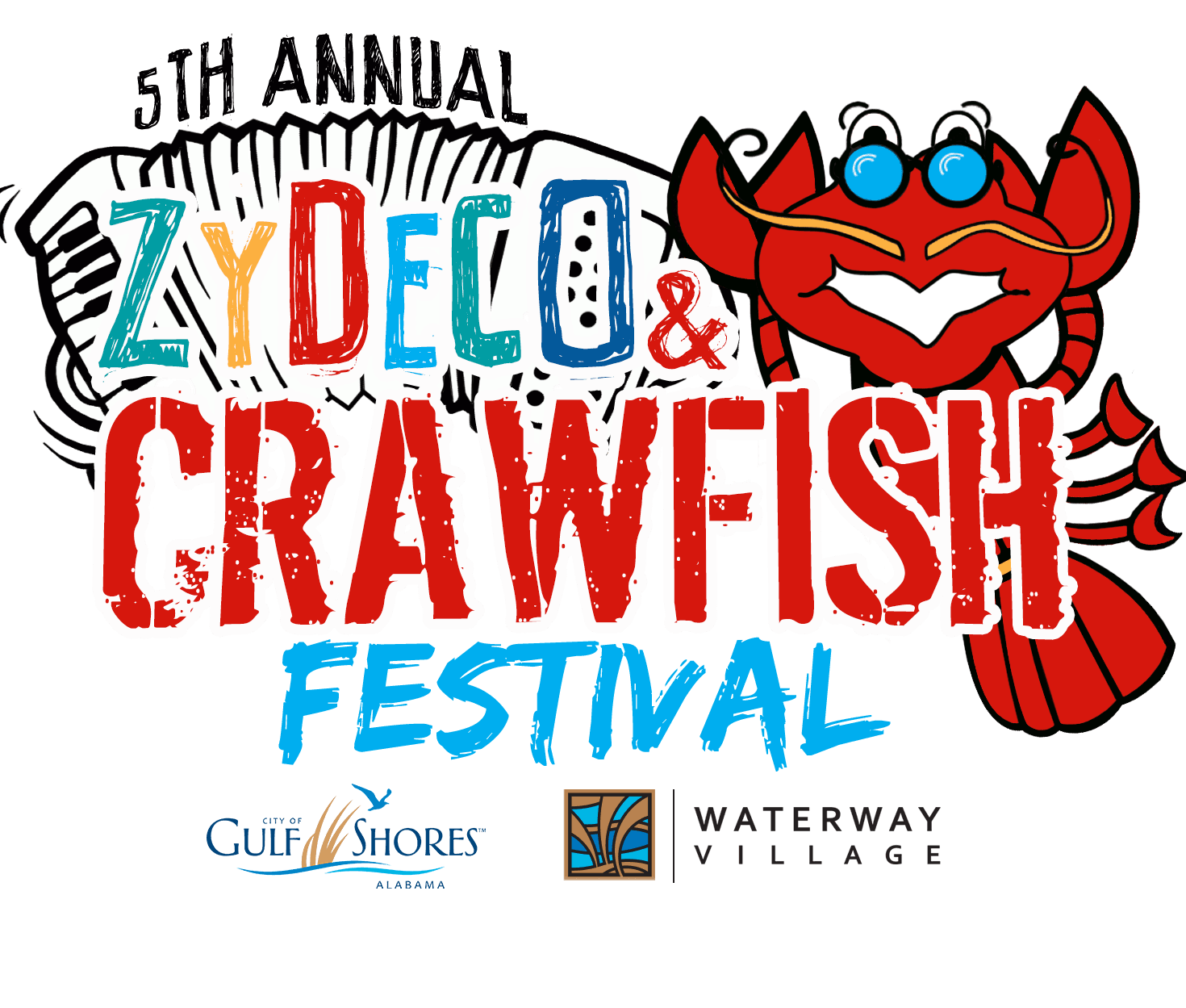 Zydeco Crawfish Festival Logo - 5th Annual