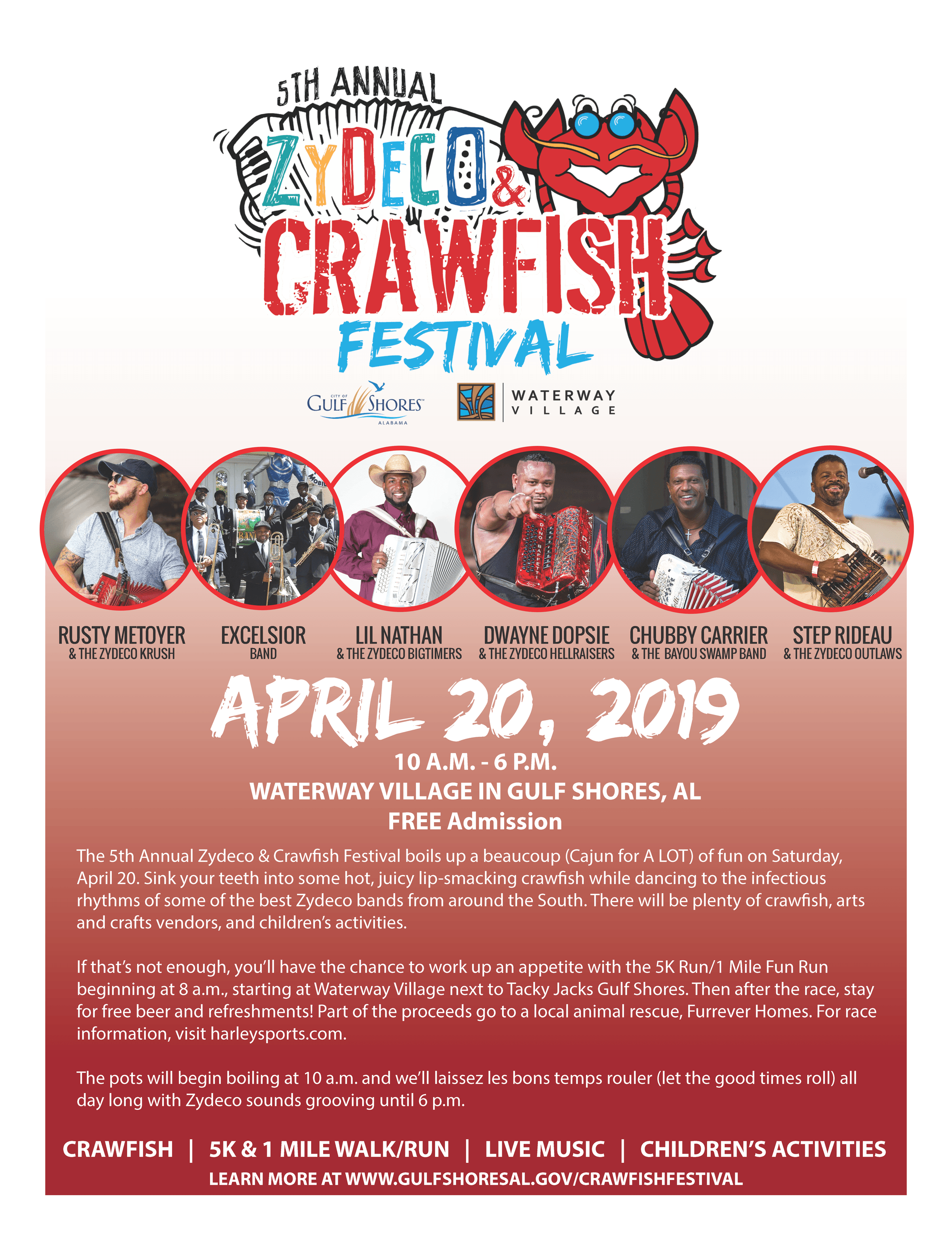 Zydeco and Crawfish Festival 2019 poster