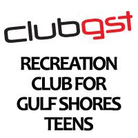 "Newsflash Button for Website - ""ClubGST Recreation Club for Gulf Shores Teens"" text"