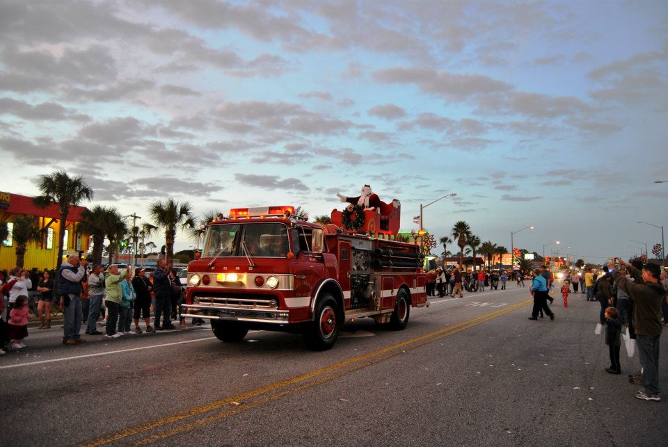 firetruck in the parade