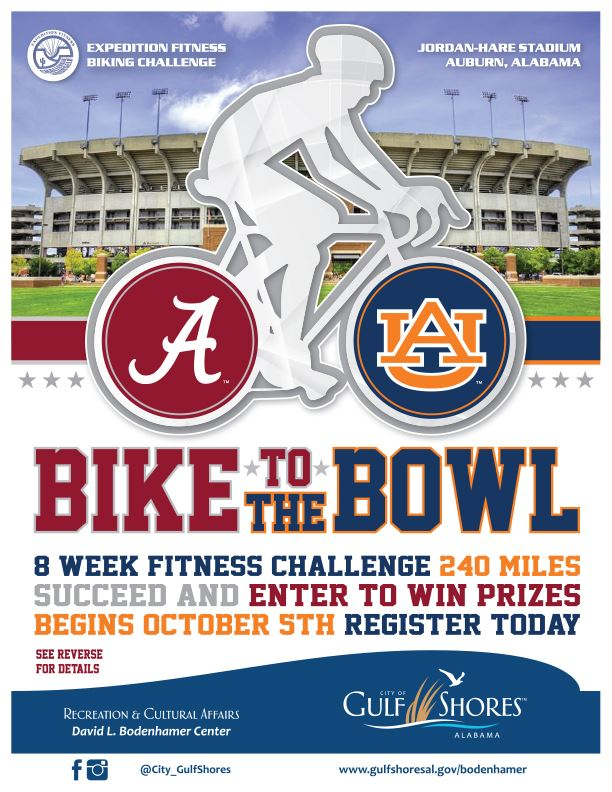 Bike to the Iron Bowl Event Flyer