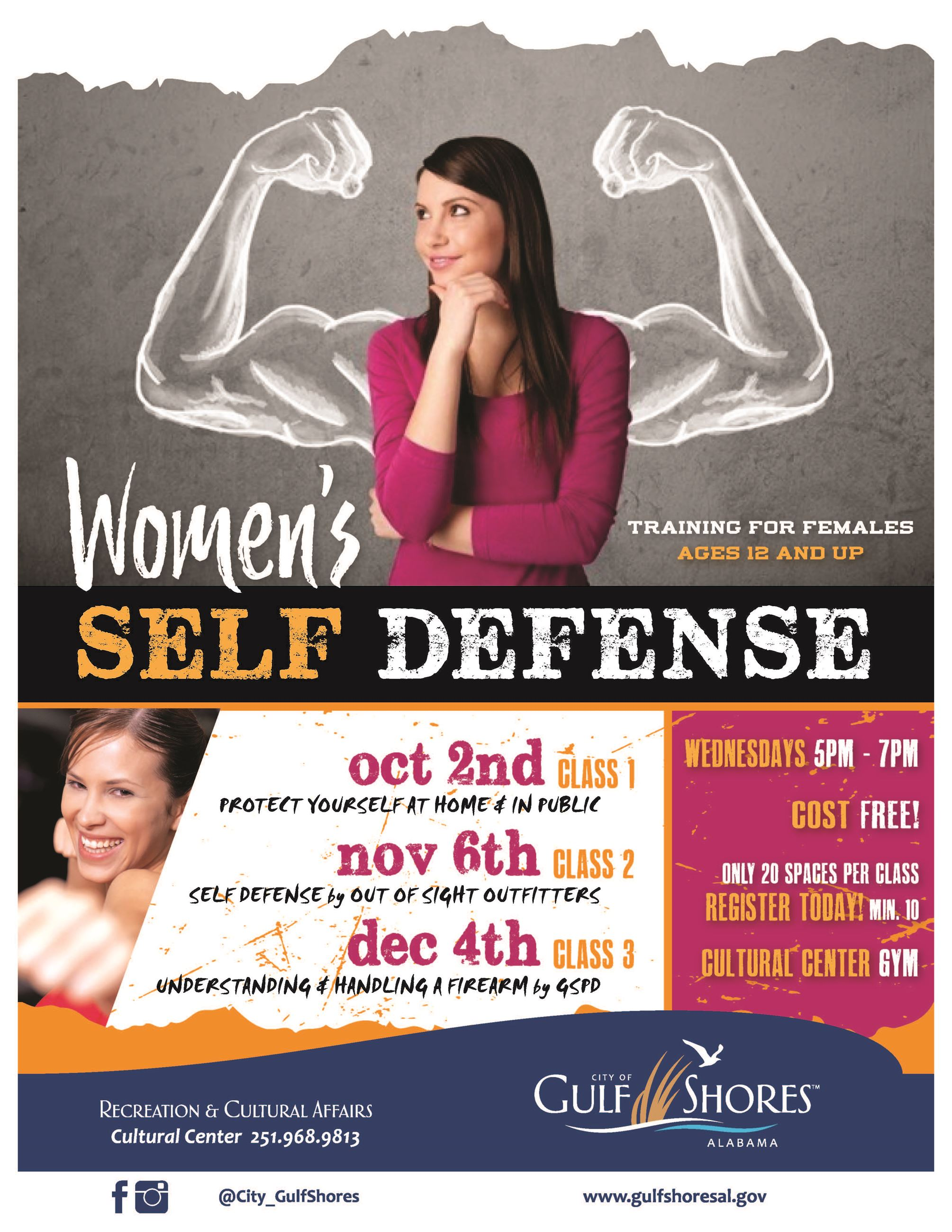Womens Self Defense Event Flyer