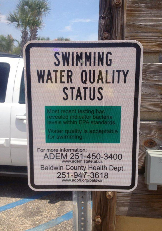 Gulf Shores Swimming Water Quality Status